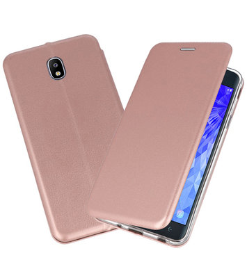 Roze Premium Folio Booktype Hoesje voor Samsung Galaxy J7 2018