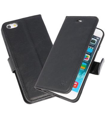 Zwart Rico Vitello Echt Leren Bookstyle Wallet Hoesje voor iPhone 6 / 6s