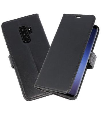 Zwart Rico Vitello Echt Leren Bookstyle Wallet Hoesje voor Samsung Galaxy S9Plus