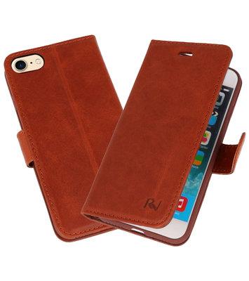 BruinRico Vitello Echt Leren Bookstyle Wallet Hoesje voor iPhone 7 / 8