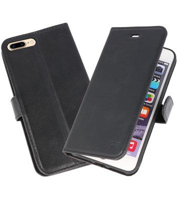 Zwart Rico Vitello Echt Leren Bookstyle Wallet Hoesje voor iPhone 7 Plus/ 8 Plus
