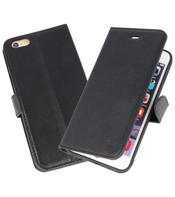 Zwart Rico Vitello Echt Leren Bookstyle Wallet Hoesje voor iPhone 6Plus / 6sPlus