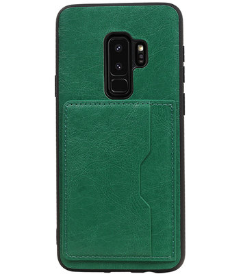 Groen Staand Back Cover 2 Pasjes Hoesje voor Samsung Galaxy S9 Plus