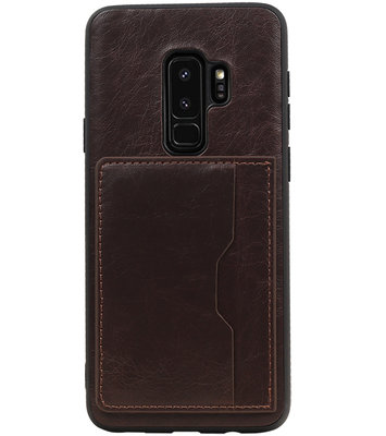 Mocca Staand Back Cover 2 Pasjes Hoesje voor Samsung Galaxy S9 Plus