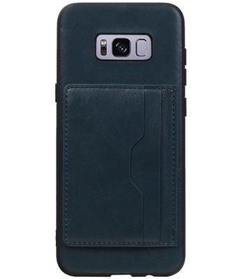Zwart Staand Back Cover 2 Pasjes Hoesje voor Samsung Galaxy S8 Plus