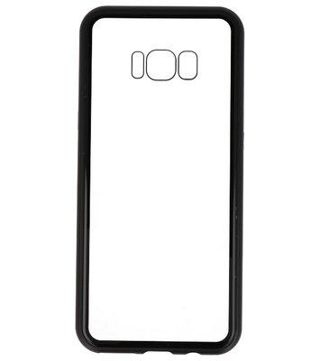 Zwart Transparant Magnetisch Back Cover Hoesje voor Samsung Galaxy S8 Plus