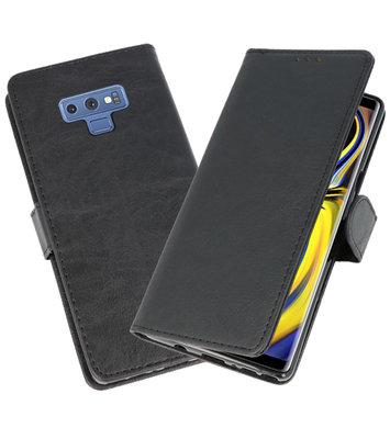 Zwart Bookstyle Wallet Cases Hoesje voor Samsung Galaxy Note 9