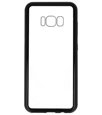 Zwart Transparant Magnetisch Back Cover Hoesje voor Samsung Galaxy S8
