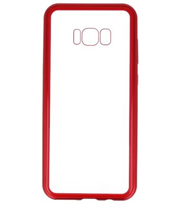 Rood Transparant Magnetisch Back Cover Hoesje voor Samsung Galaxy S8 Plus