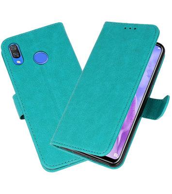 Groen Bookstyle Wallet Cases Hoesje voor Huawei Nova 3