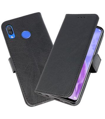 Zwart Bookstyle Wallet Cases Hoesje voor Huawei Nova 3