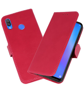 Roze Bookstyle Wallet Cases Hoesje voor Huawei P Smart Plus
