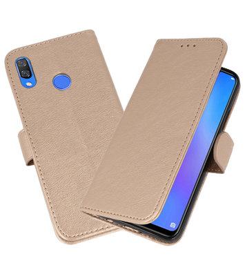 Goud Bookstyle Wallet Cases Hoesje voor Huawei P Smart Plus