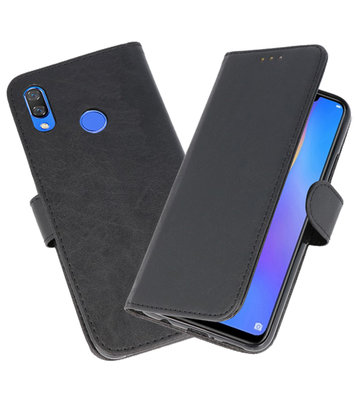 Zwart Bookstyle Wallet Cases Hoesje voor Huawei P Smart Plus