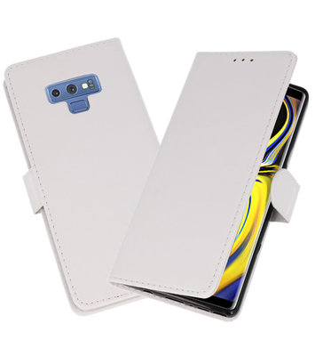 Wit Bookstyle Wallet Cases Hoesje voor Samsung Galaxy Note 9