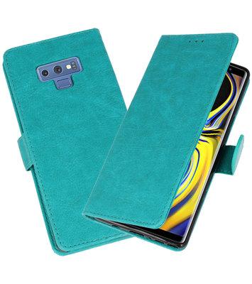 Groen Bookstyle Wallet Cases Hoesje voor Samsung Galaxy Note 9