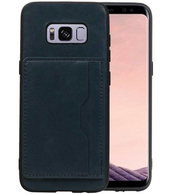 Staand Back Cover 1 Pasjes Galaxy S8 Navy