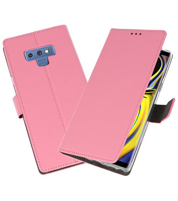 Roze Wallet Cases Hoesje voor Samsung Galaxy Note 9