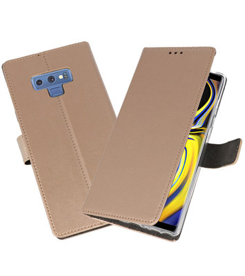 Goud Wallet Cases Hoesje voor Samsung Galaxy Note 9