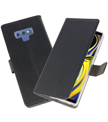 Zwart Wallet Cases Hoesje voor Samsung Galaxy Note 9