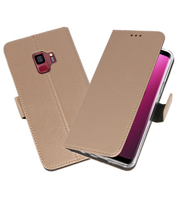 Goud Wallet Cases Hoesje voor Samsung Galaxy S9