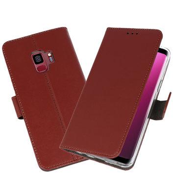 Bruin Wallet Cases Hoesje voor Samsung Galaxy S9