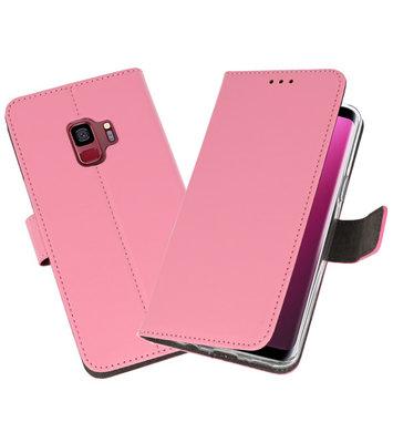 Roze Wallet Cases Hoesje voor Samsung Galaxy S9