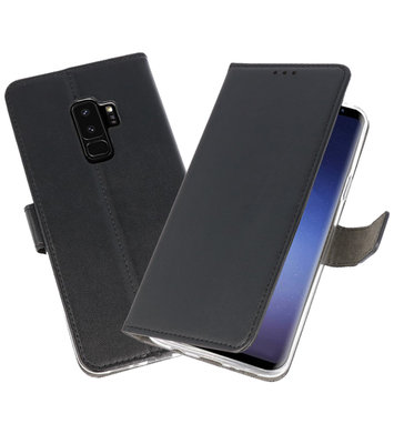 Zwart Wallet Cases Hoesje voor Samsung Galaxy S9 Plus