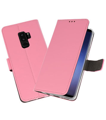 Roze Wallet Cases Hoesje voor Samsung Galaxy S9 Plus