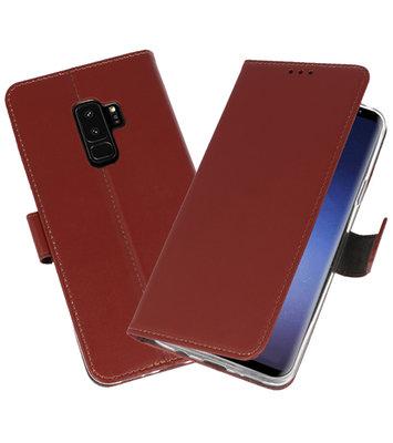 Bruin Wallet Cases Hoesje voor Samsung Galaxy S9 Plus