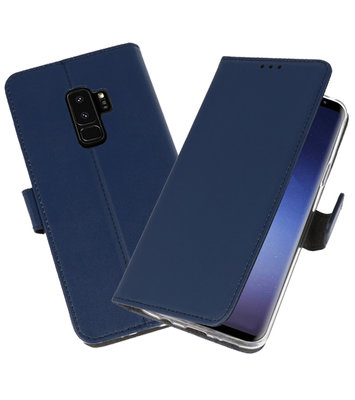 Navy Wallet Cases Hoesje voor Samsung Galaxy S9 Plus