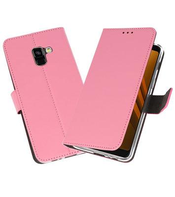 Roze Wallet Cases Hoesje voor Samsung Galaxy A8 2018