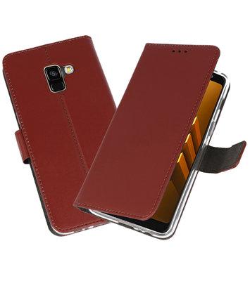 Bruin Wallet Cases Hoesje voor Samsung Galaxy A8 2018