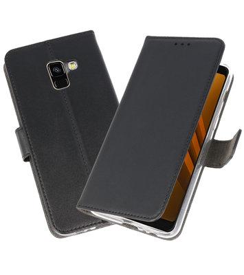 Zwart Wallet Cases Hoesje voor Samsung Galaxy A8 2018