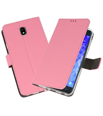 Roze Wallet Cases Hoesje voor Samsung Galaxy J7 2018