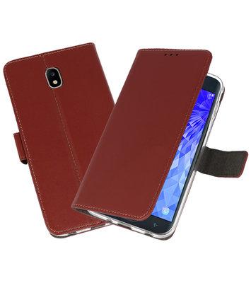 Bruin Wallet Cases Hoesje voor Samsung Galaxy J7 2018