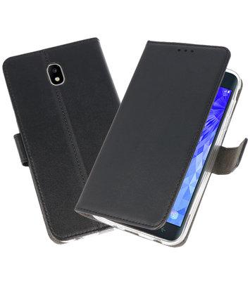 Zwart Wallet Cases Hoesje voor Samsung Galaxy J7 2018