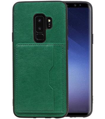 Groen Staand Back Cover 1 Pasje Hoesje voor Samsung Galaxy S9 Plus