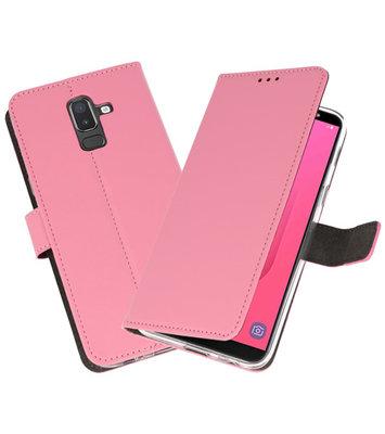 Roze Wallet Cases Hoesje voor Samsung Galaxy J8