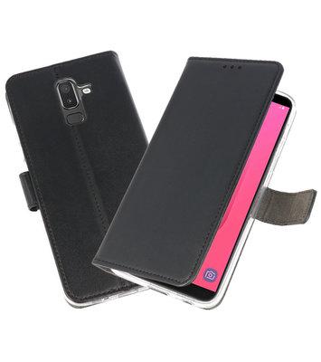 Zwart Wallet Cases Hoesje voor Samsung Galaxy J8