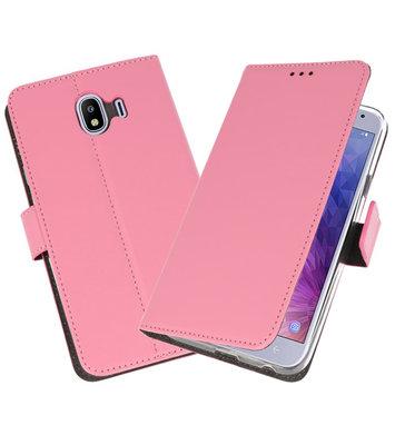Roze Wallet Cases Hoesje voor Samsung Galaxy J4 2018
