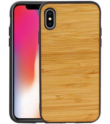 Bamboe Design Hardcase Hoesje voor iPhone X/ XS Horizontaal