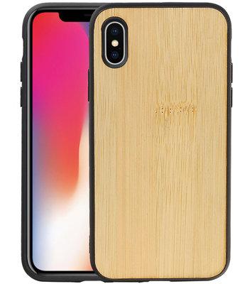 Bamboe Design Hardcase Hoesje voor iPhone X/ XS Verticaal 2