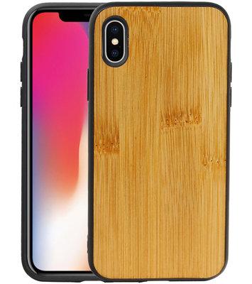 Bamboe Design Hardcase Hoesje voor iPhone X/ XS Verticaal 1