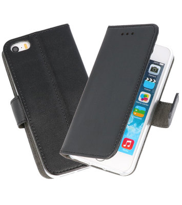 Zwart Wallet Cases Hoesje voor iPhone 5