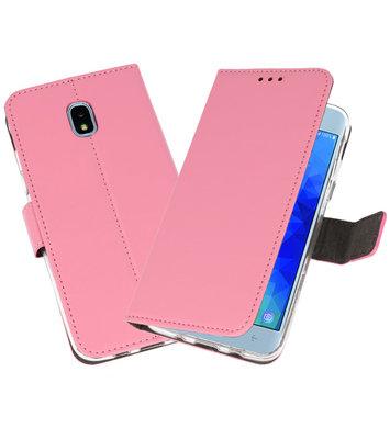 Roze Wallet Cases Hoesje voor Samsung Galaxy J3 2018
