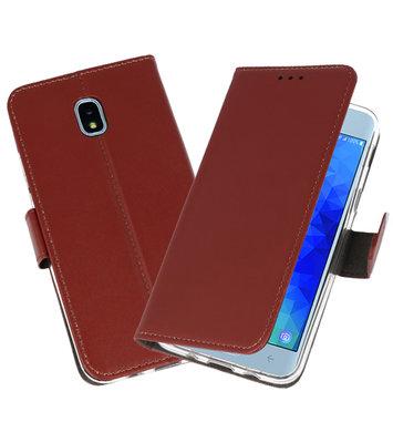 Bruin Wallet Cases Hoesje voor Samsung Galaxy J3 2018