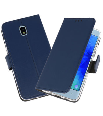 Navy Wallet Cases Hoesje voor Samsung Galaxy J3 2018