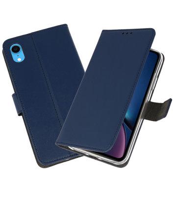 Navy Wallet Cases Hoesje voor iPhone XR