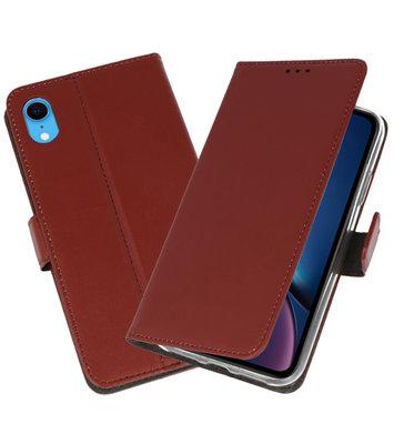 Bruin Wallet Cases Hoesje voor iPhone XR